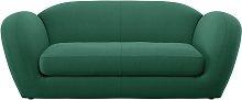 Habitat Layla 3 Seater Fabric Sofa - Green