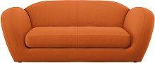 Habitat Layla 3 Seater Fabric Sofa - Orange