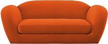 Habitat Layla 3 Seater Velvet Sofa - Orange
