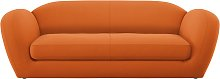 Habitat Layla 4 Seater Fabric Sofa - Orange