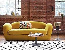 Habitat Layla 4 Seater Velvet Sofa - Orange