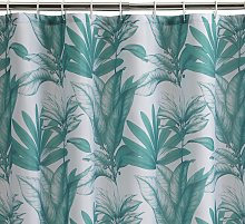 Habitat Leaf Shower Curtain - Green