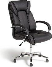 Habitat Leather Faced Ergonomic Office Chair -