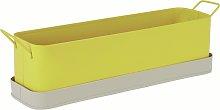 Habitat Leon Metal Window Box - Yellow & Grey