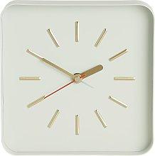 Habitat Lester Metal Alarm Clock  - White