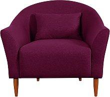 Habitat Lipps Velvet Armchair - Cranberry
