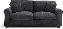 Habitat Lisbon 3 Seater Fabric Sofa - Charcoal