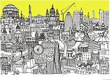 Habitat Lizzie Prestt London Jungle Wall Art