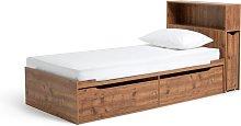 Habitat Lloyd Cabin Bed With Headboard -Rustic Oak Effect
