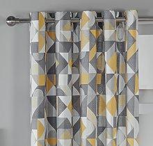 Habitat Loft Living Geo Fully Lined Eyelet Curtains