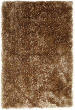 Habitat Luxury Plain Shaggy Rug - 120x170cm - Gold
