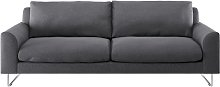 Habitat Lyle 3 Seater Fabric Sofa - Charcoal