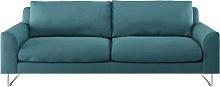 Habitat Lyle 3 Seater Fabric Sofa - Teal