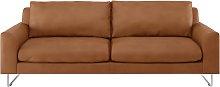 Habitat Lyle 3 Seater Leather Sofa - Tan