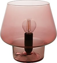 Habitat Lyss Glass Table Lamp - Pink