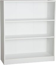 Habitat Maine 2 Shelf Small Bookcase - White