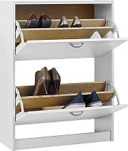 Habitat Maine 4 Shelf Shoe Storage Cabinet - White