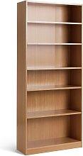 Habitat Maine 5 Shelf Wide Deep Bookcase - Oak
