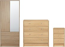 Habitat Malibu 3 Piece 2 Door Wardrobe Set - Beech