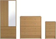 Habitat Malibu 3 Piece 2 Door Wardrobe Set - Oak