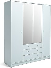 Habitat Malibu 4 Door 3 Drawer Mirror Wardrobe -