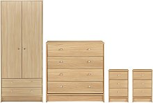 Habitat Malibu 4 Piece 2 Door Wardrobe Set - Beech