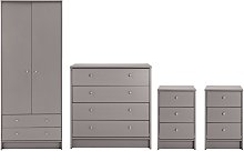 Habitat Malibu 4 Piece 2 Door Wardrobe Set - Grey