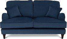 Habitat Matilda 2 Seater Velvet Sofa - Blue