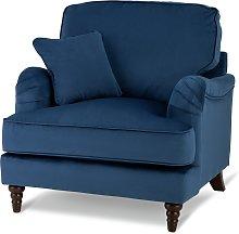 Habitat Matilda Velvet Armchair - Blue