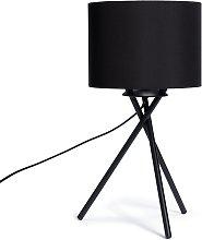 Habitat Matt Tripod Table Lamp - Black