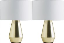 Habitat Maya Pair of Touch Table Lamps - Gold &