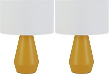 Habitat Maya Pair of Touch Table Lamps - Yellow