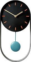 Habitat Metro Black Pendulum Wall Clock