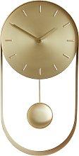 Habitat Metro Gold Pendulum Wall Clock