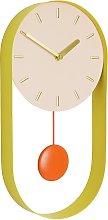 Habitat Metro Metal Pendulum Wall Clock - Pink