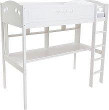 Habitat Mia High Sleeper, Desk and Kids Mattress -