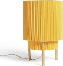 Habitat Mid Century Pleated Column Table Lamp -