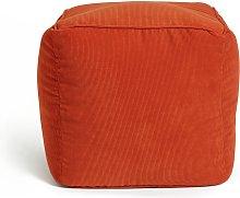 Habitat Mid Century Pouffe - Orange