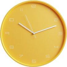 Habitat Mid Century Wall Clock - Mustard