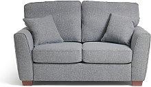 Habitat Milford 2 Seater Fabric Sofa - Grey