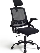 Habitat Milton Mesh Ergonomic Office Chair - Black