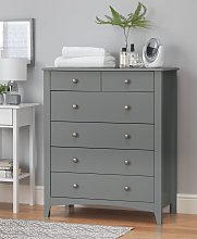 Habitat Minato 4 + 2 Slim Drawer Chest - Grey