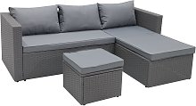 Habitat Mini Corner Sofa Set with Storage - Grey