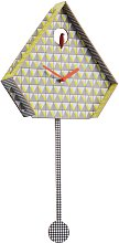 Habitat Miu Yellow Patterned Cuckoo Wall Clock