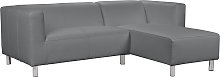 Habitat Moda Right Corner Faux Leather Sofa - Grey