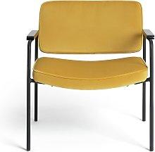 Habitat Molly Velvet Chair - Yellow