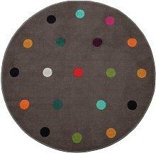 Habitat Multi Spot Circle Rug - 100x100cm -