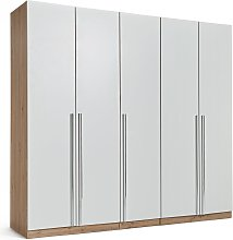 Habitat Munich 5 Door Wardrobe - White & Oak Effect
