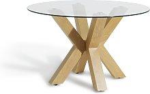 Habitat New Alden Round Dining Table - Glass