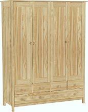 Habitat New Scandinavia 4 Door 6 Drawer Wardrobe -